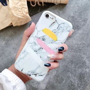 NEW iPhone MAX/X/XS/7+/8+ Painted Marble Case